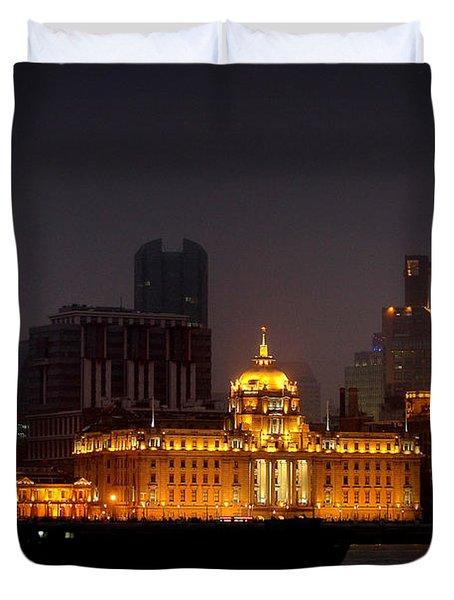 The Bund - More Than Shanghai's Most Beautiful Landmark Duvet Cover by Christine Till