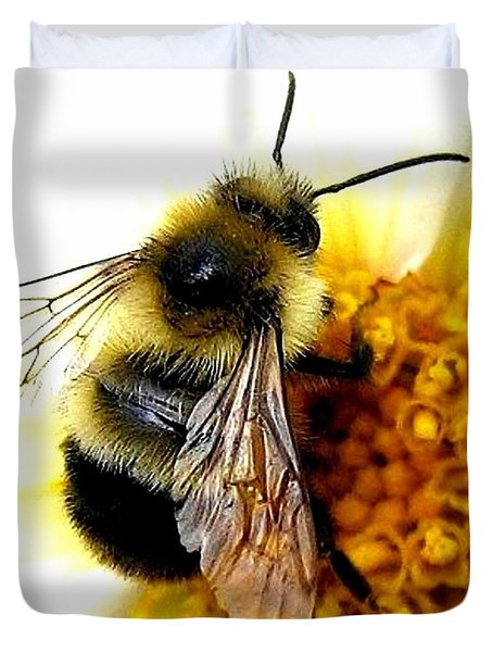 The Buzz Duvet Cover by Will Borden