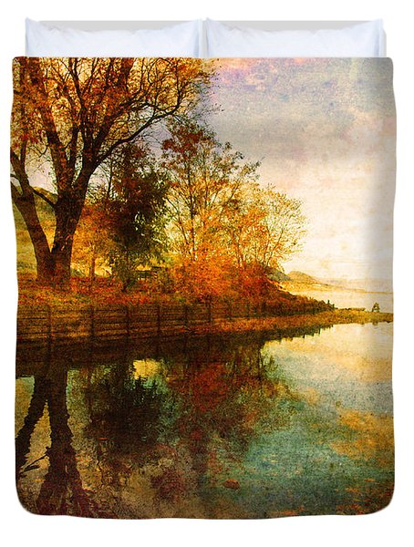 The Calm By The Creek Duvet Cover by Tara Turner