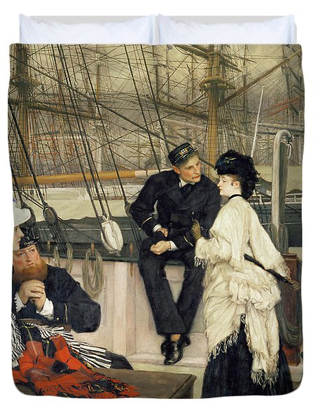 The Captain And The Mate Duvet Cover by Tissot