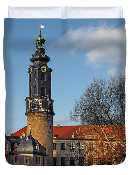 The Castle - Weimar - Thuringia - Germany Duvet Cover by Christine Till