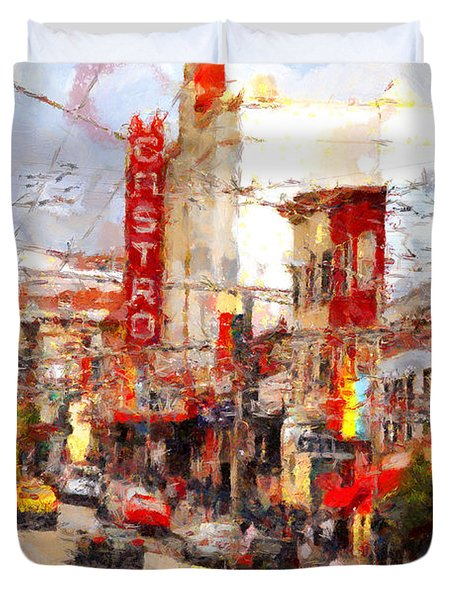 The Castro In San Francisco . 7d7572 Duvet Cover by Wingsdomain Art and Photography