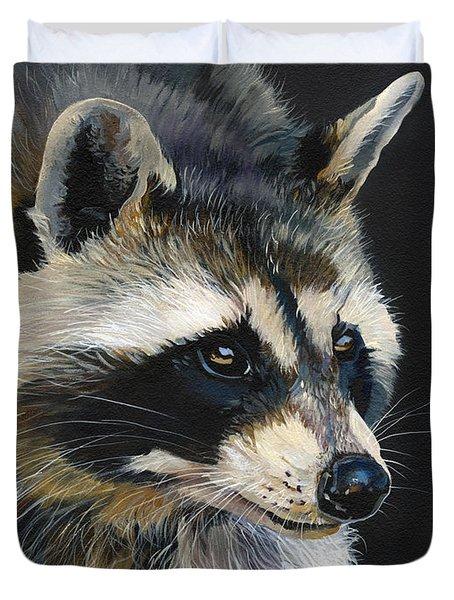 The Cat Food Bandit Duvet Cover by J W Baker