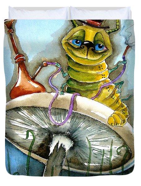 The Caterpillar Duvet Cover by Lucia Stewart