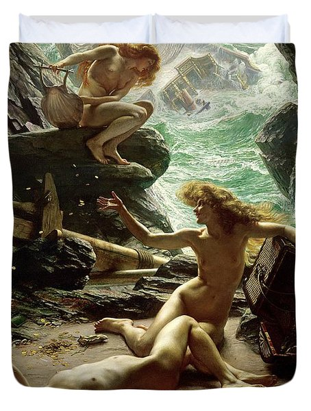 The Cave Of The Storm Nymphs Duvet Cover by Sir Edward John Poynter