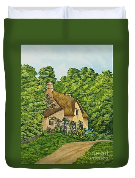 The Charm Of Wiltshire Duvet Cover by Charlotte Blanchard
