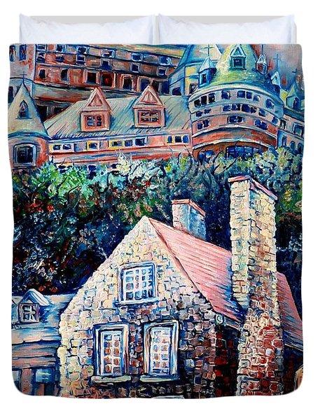 The Chateau Frontenac Duvet Cover by Carole Spandau