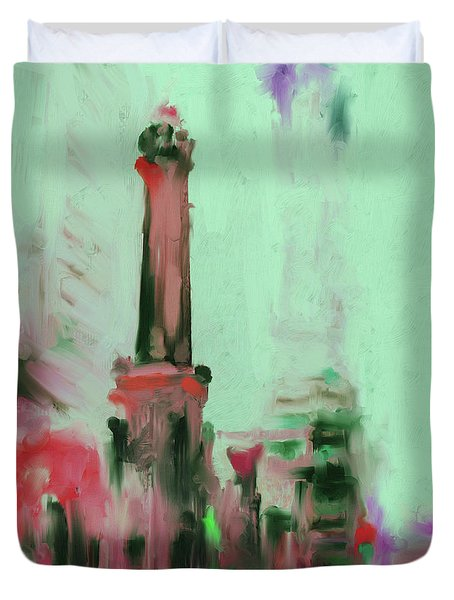The Chicago Water Tower 535 4 Duvet Cover by Mawra Tahreem