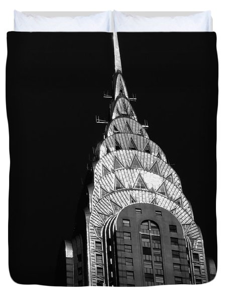 The Chrysler Building Duvet Cover by Vivienne Gucwa