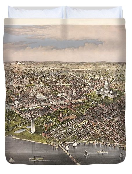 The City Of Washington Duvet Cover by Charles Richard Parsons