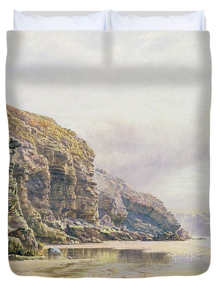 The Coast Of Cornwall  Duvet Cover by John Mogford