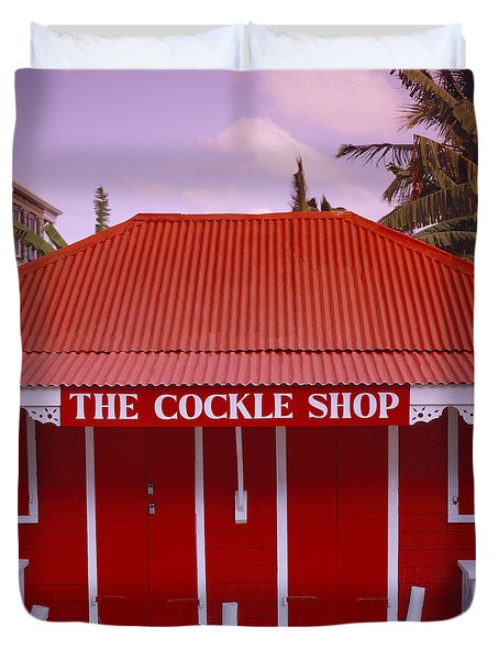 The Cockle Shop Duvet Cover by Shaun Higson