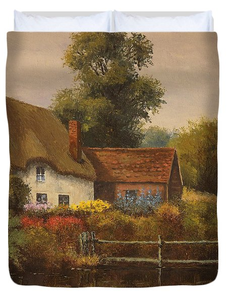 The Country Cottage Duvet Cover by Sean Conlon