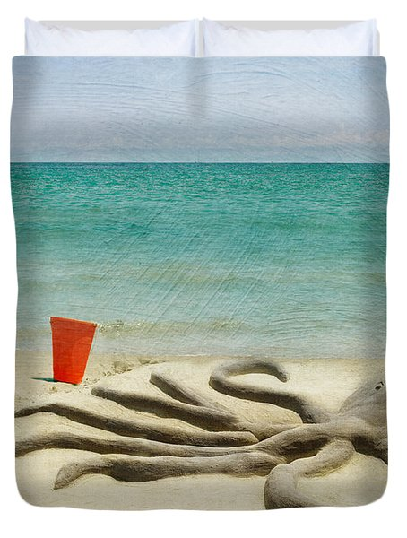 The Creature Duvet Cover by Juli Scalzi