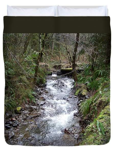 The Creek Duvet Cover by Laurie Kidd