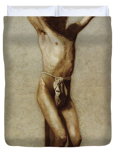 The Crucifixion Duvet Cover by Thomas Eakins