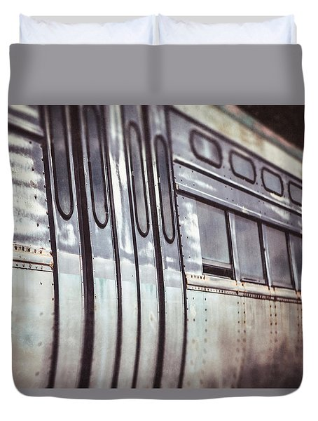The Cta Train Duvet Cover by Lisa Russo