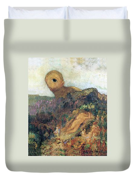 The Cyclops Duvet Cover by Odilon Redon