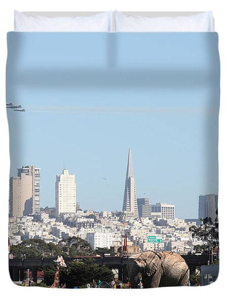 The Day The Circus Came To Town Duvet Cover by Wingsdomain Art and Photography