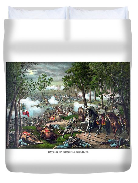 The Death Of Stonewall Jackson Duvet Cover by War Is Hell Store