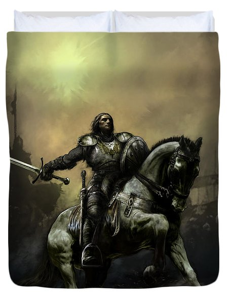 The Defiant Duvet Cover by David Willicome