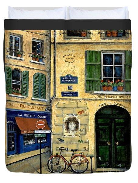 The Doors Duvet Cover by Marilyn Dunlap