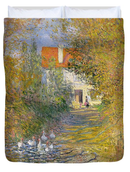 The Duck Pond Duvet Cover by Claude Monet