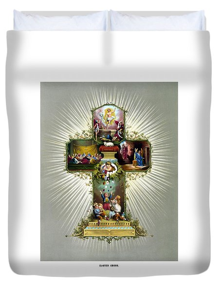 The Easter Cross Duvet Cover by War Is Hell Store
