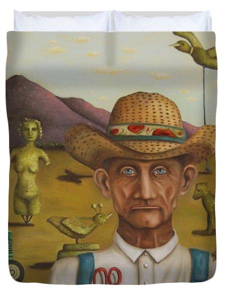 The Eccentric Farmer Duvet Cover by Leah Saulnier The Painting Maniac