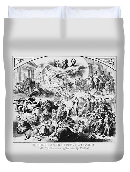 The End Of The Republican Party Duvet Cover by War Is Hell Store