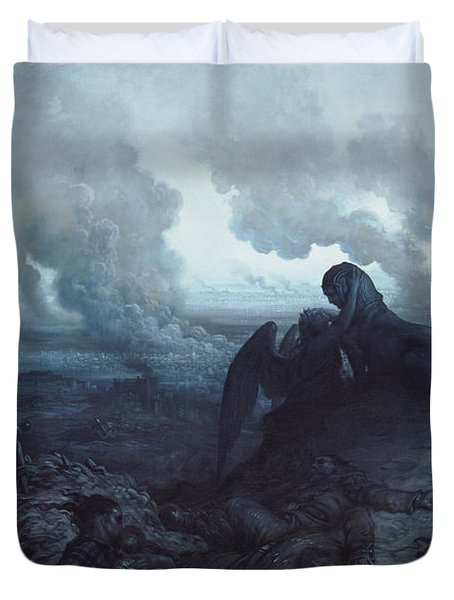 The Enigma Duvet Cover by Gustave Dore