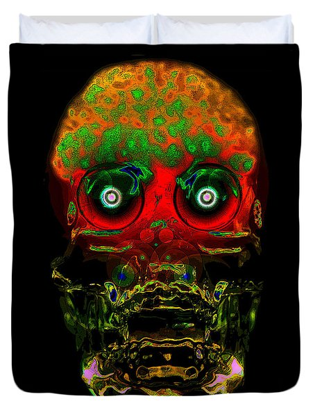 The Face Of Man Duvet Cover by David Lee Thompson