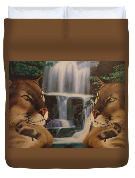 The Fall Of A Reflection  Duvet Cover by Jamie Preston