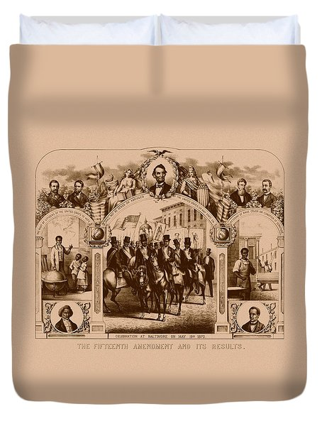 The Fifteenth Amendment And Its Results Duvet Cover by War Is Hell Store