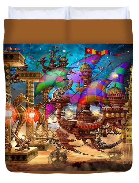 The Fleet Has Arrived Duvet Cover by Ciro Marchetti