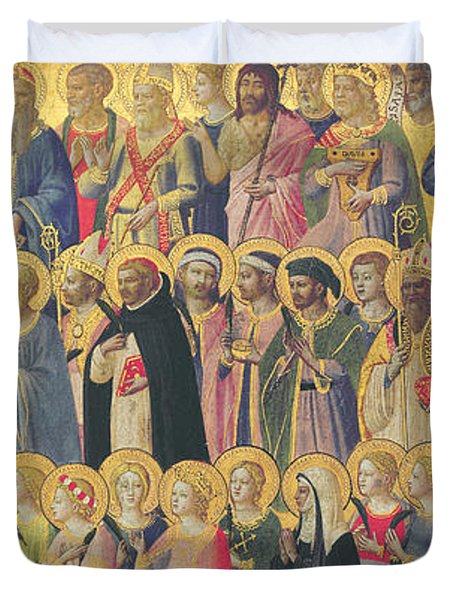 The Forerunners Of Christ With Saints And Martyrs Duvet Cover by Fra Angelico