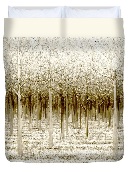 The Forest For The Trees Duvet Cover by Holly Kempe