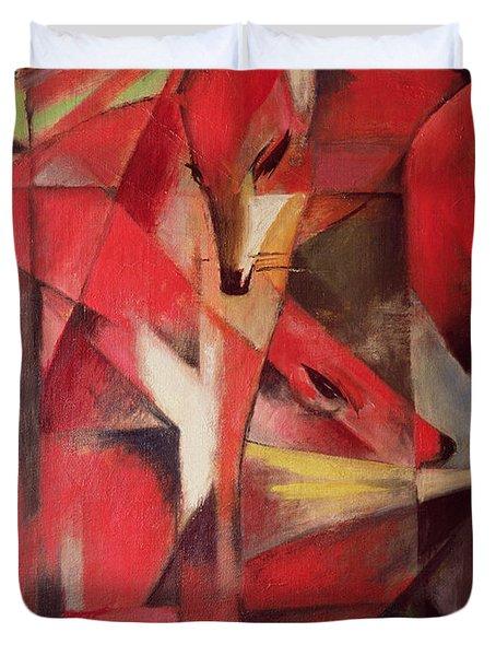The Fox Duvet Cover by Franz Marc