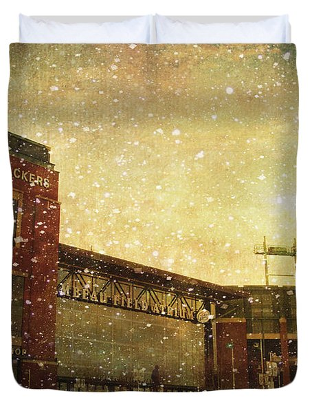 The Frozen Tundra Duvet Cover by Joel Witmeyer