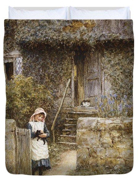 The Garden Gate Duvet Cover by Helen Allingham