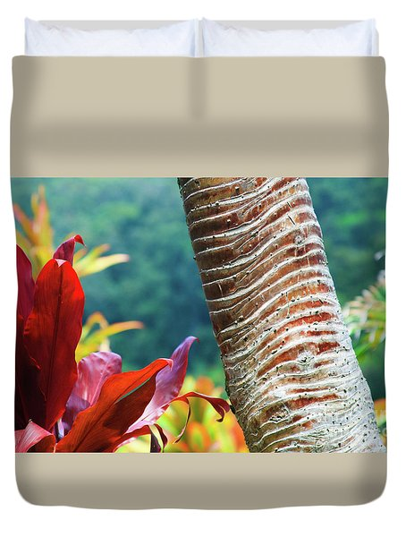 The Garden Of Love Duvet Cover by Sharon Mau