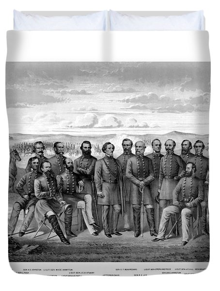 The Generals Of The Confederate Army Duvet Cover by War Is Hell Store