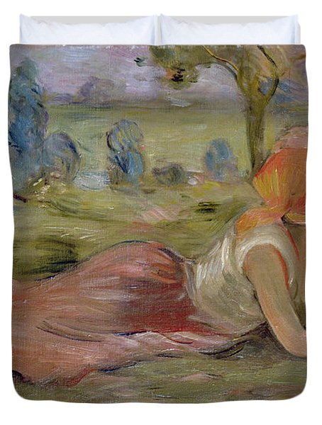 The Goatherd Duvet Cover by Berthe Morisot