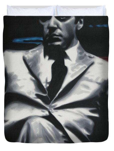 The Godfather 2013 Duvet Cover by Luis Ludzska