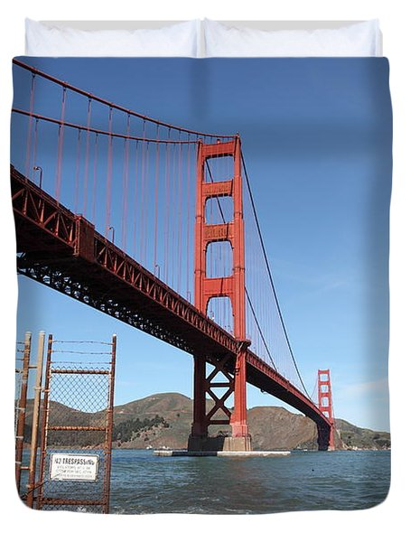 The Golden Gate Bridge At Fort Point - 5d21473 Duvet Cover by Wingsdomain Art and Photography
