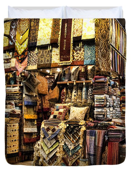 The Grand Bazaar In Istanbul Turkey Duvet Cover by David Smith