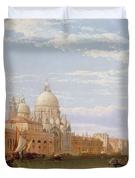 The Grand Canal - Venice Duvet Cover by George Clarkson Stanfield