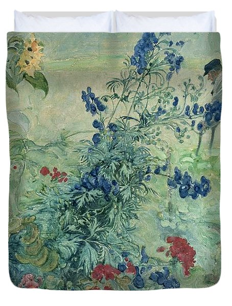 The Grandfather Duvet Cover by Carl Larsson