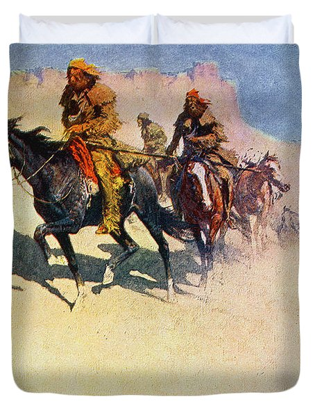 The Great Explorers Duvet Cover by Frederic Remington