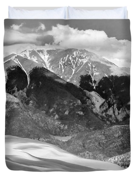 The Great Sand Dune Valley Bw Duvet Cover by James BO  Insogna